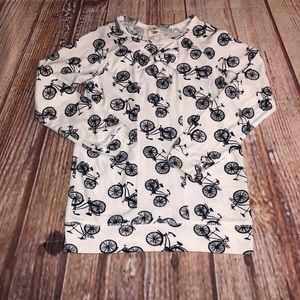 Tucker & Tate bicycle long sleeve top size 6
